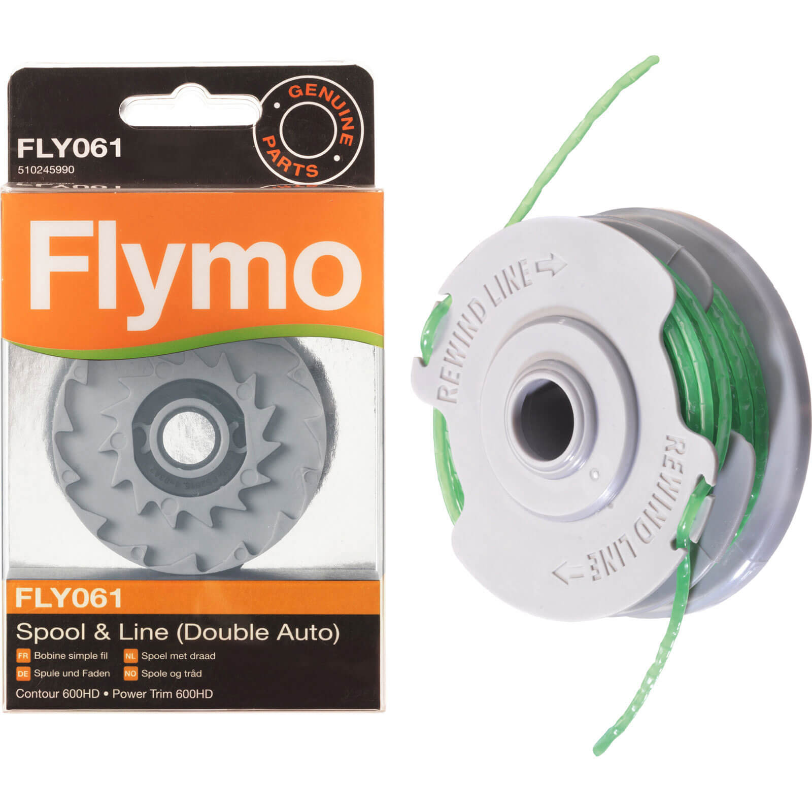 Flymo FLY061 Replacement Spool & Line for Powertrim & Contour 600HD Grass Trimmers