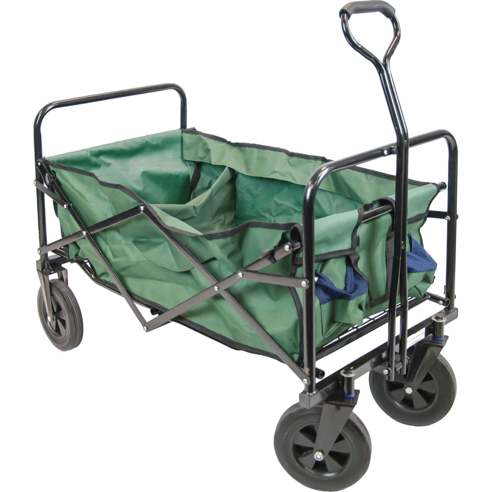 Handy Folding Garden Trolley with 75kg Capacity & Carry Bag