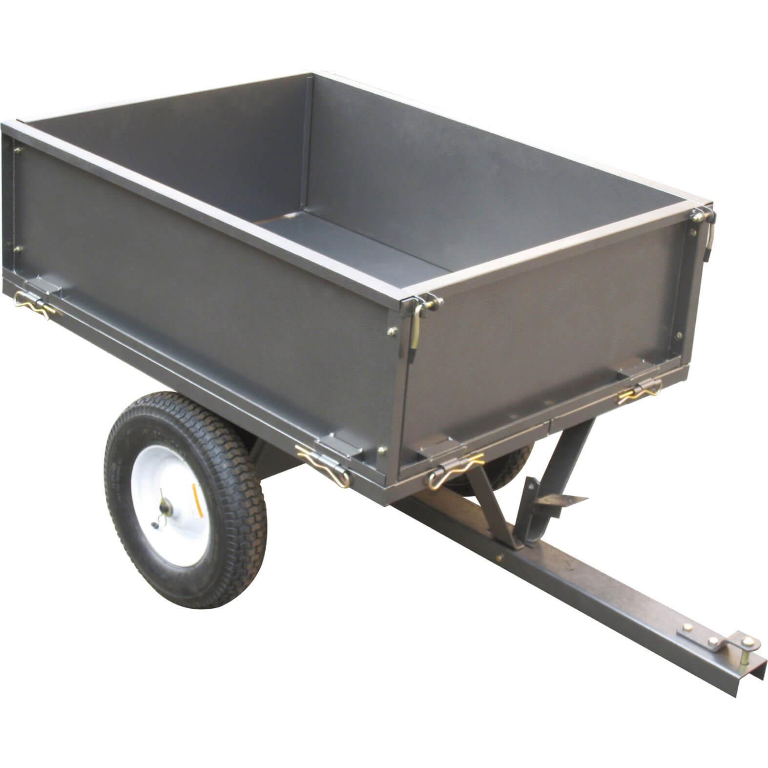 Handy GT500-A Steel Garden Towable Dump Cart 227kg Capacity