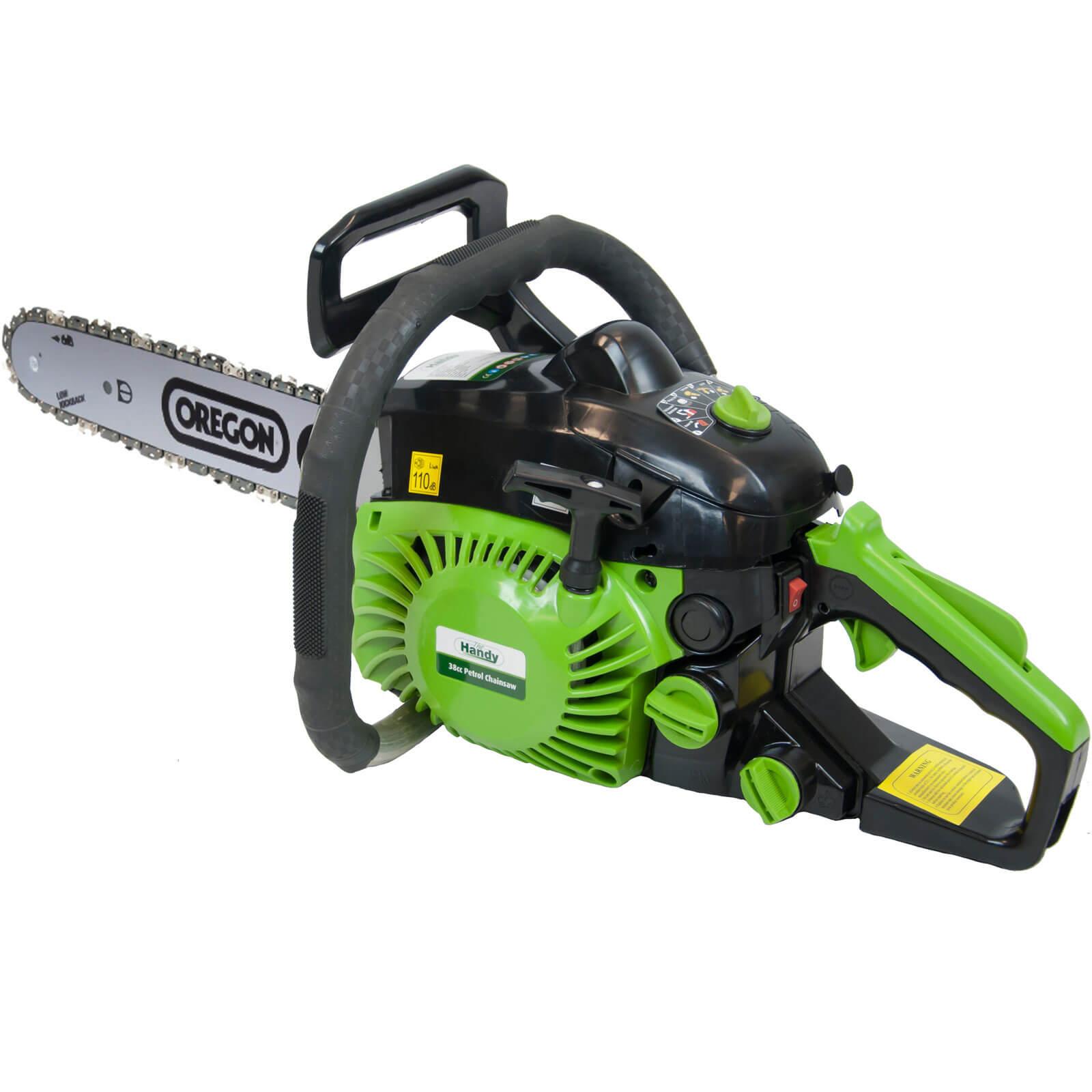 Handy Petrol Chain Saw 400mm / 16&quot Bar Length 38cc 2 Stroke Engine
