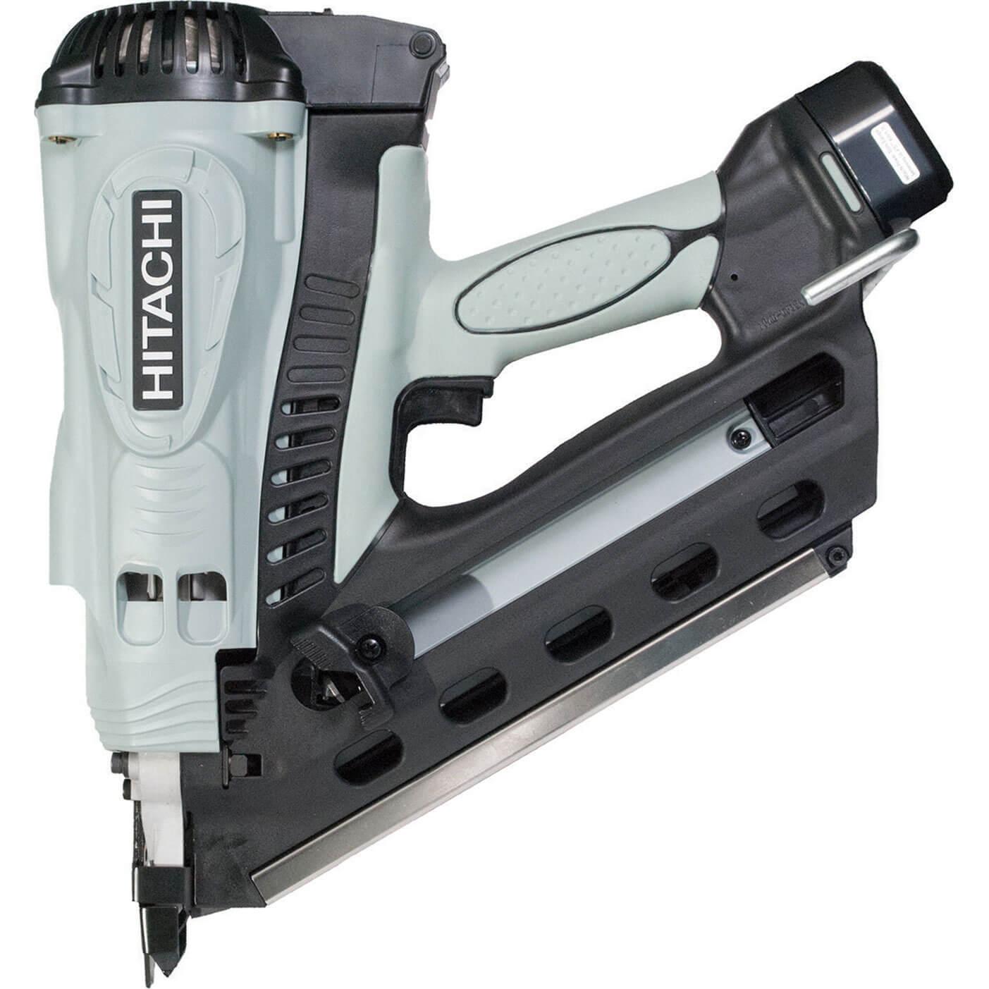Hitachi Nr90Gc2 Cordless Gas Framing Nail Gun Clipped Head Nails 50 - 90mm with 2 Batteries