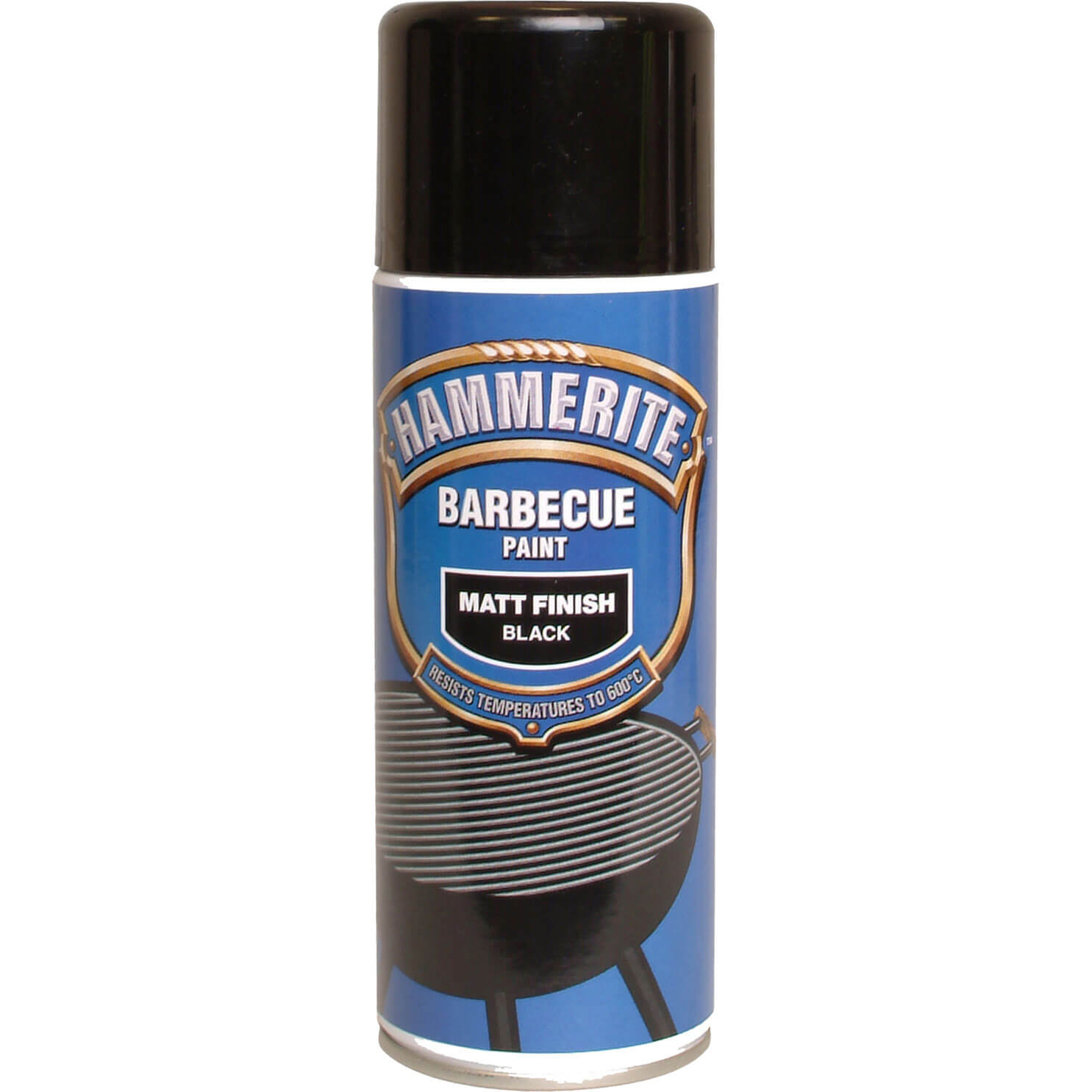 Hammerite BBQ Paint Aerosol 400ml Black Matt