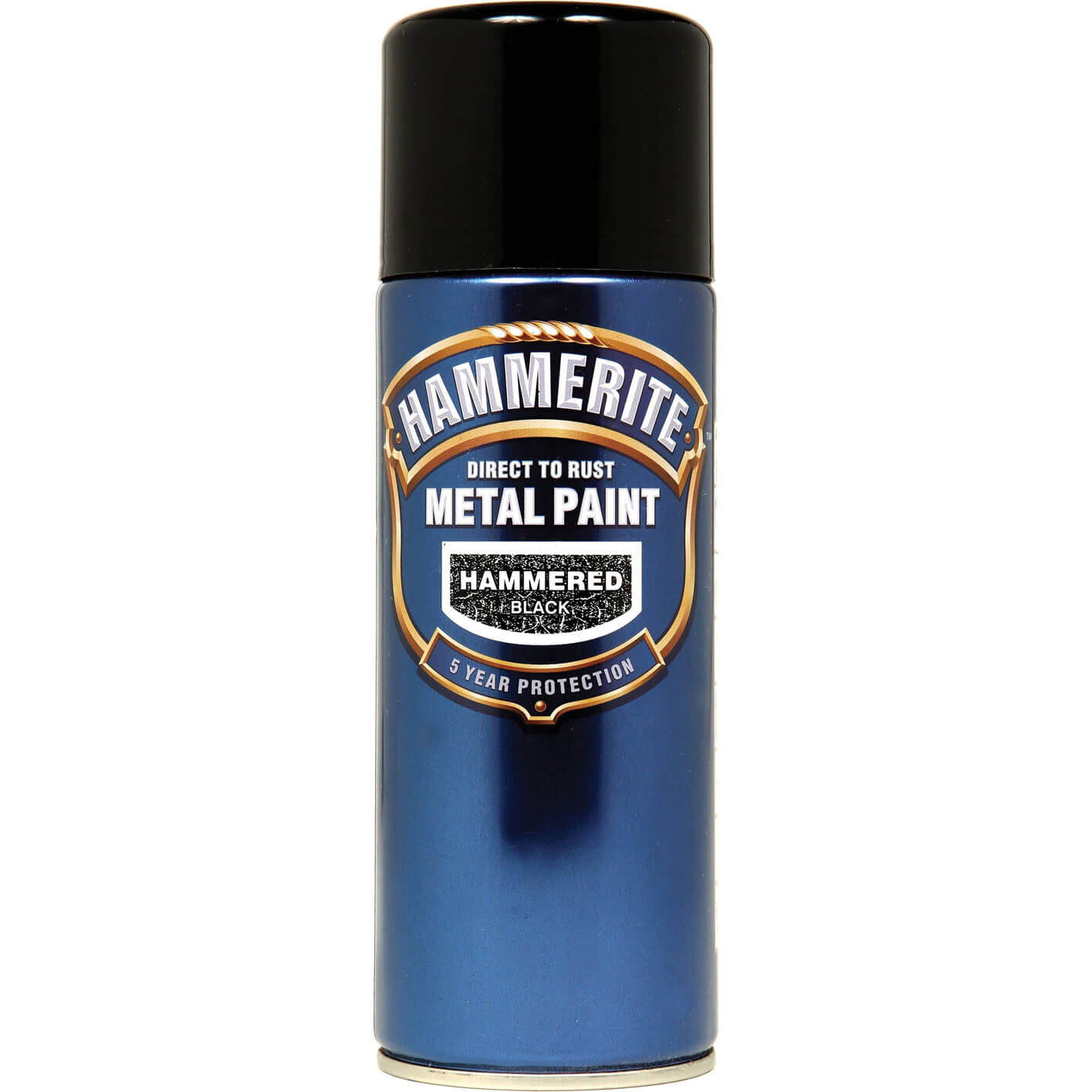 Hammerite Hammered Finish Aerosol Black 400ml