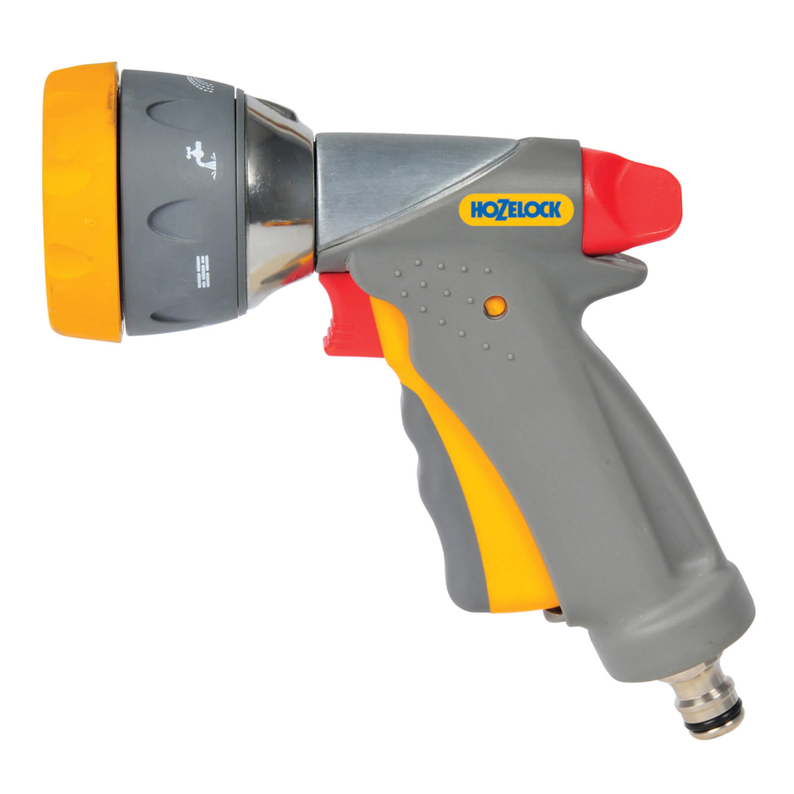 Hozelock Metal Multi Water Spray Gun Pro with 7 Spray Patterns for Hose Pipes