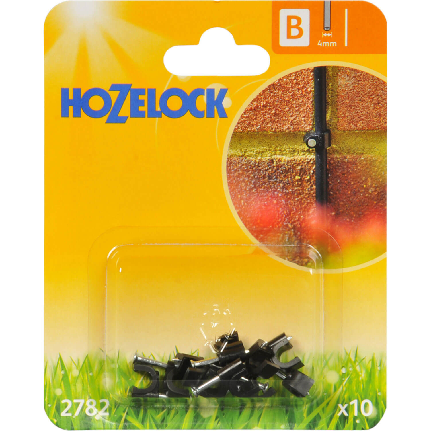 Hozelock Wall Clip 4mm Contains 10