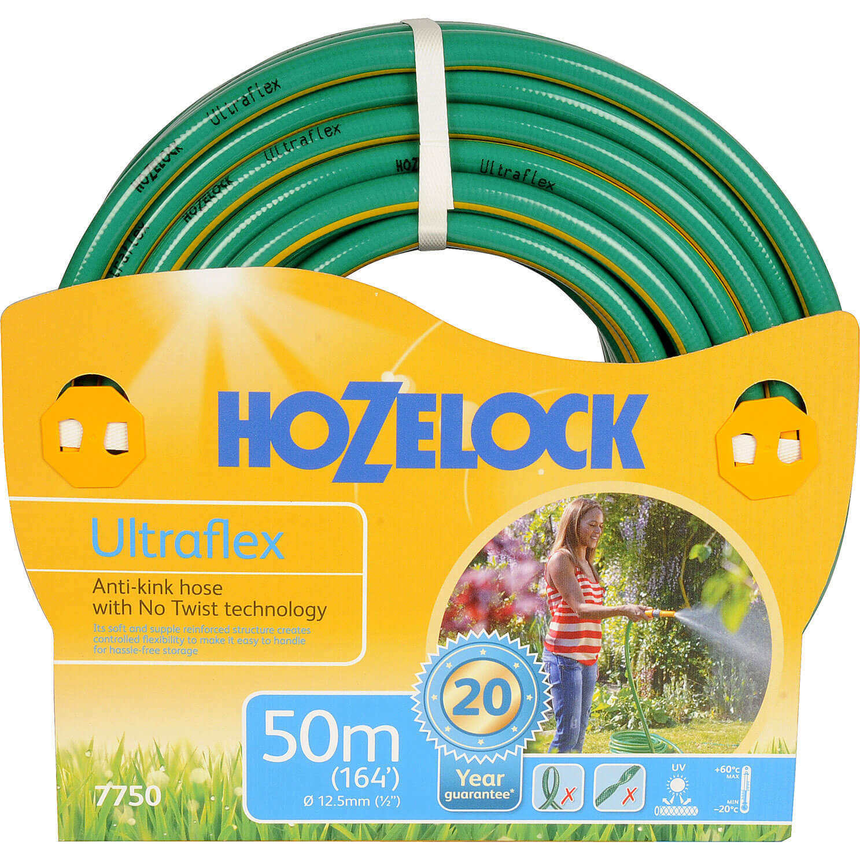 Hozelock 50 Metre Ultraflex Anti-Kink & Anti-Twist Hose Pipe 12.5mm (1/2&quot)