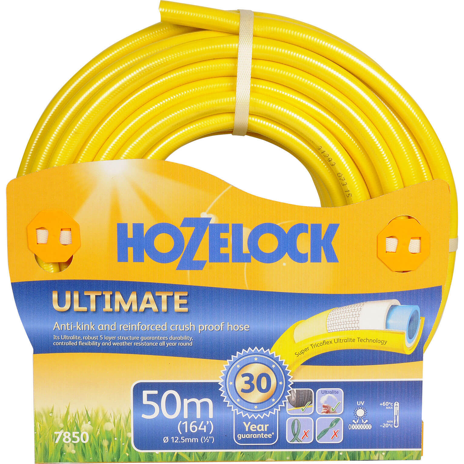 Hozelock 50 Metre Ultimate Anti-Kink & Anti-Twist Hose Pipe 12.5mm (1/2&quot)
