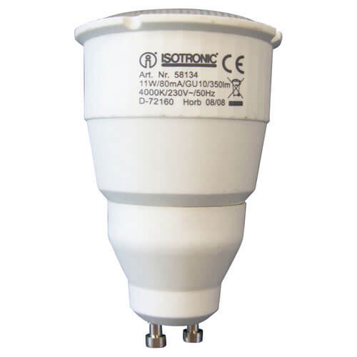 Image of Isotronic GU10 Max Compact Energy Saving Lamp 11w