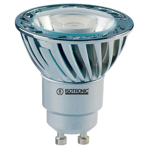 Image of Isotronic GU10 High Power LED White Chip Lamps 3w 240v
