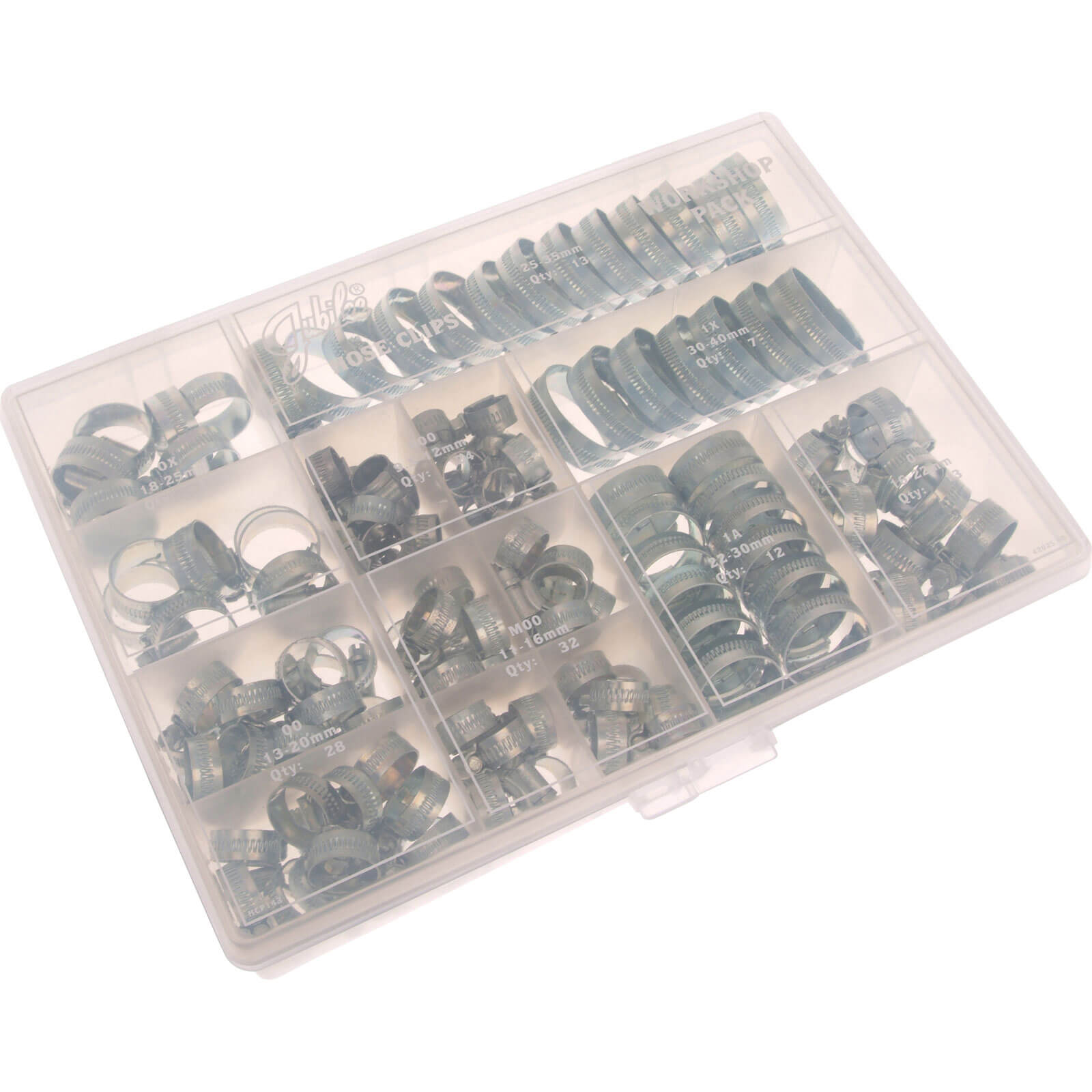 Jubilee Zinc Plated Hose Clips Assorted Sizes Pack of 143