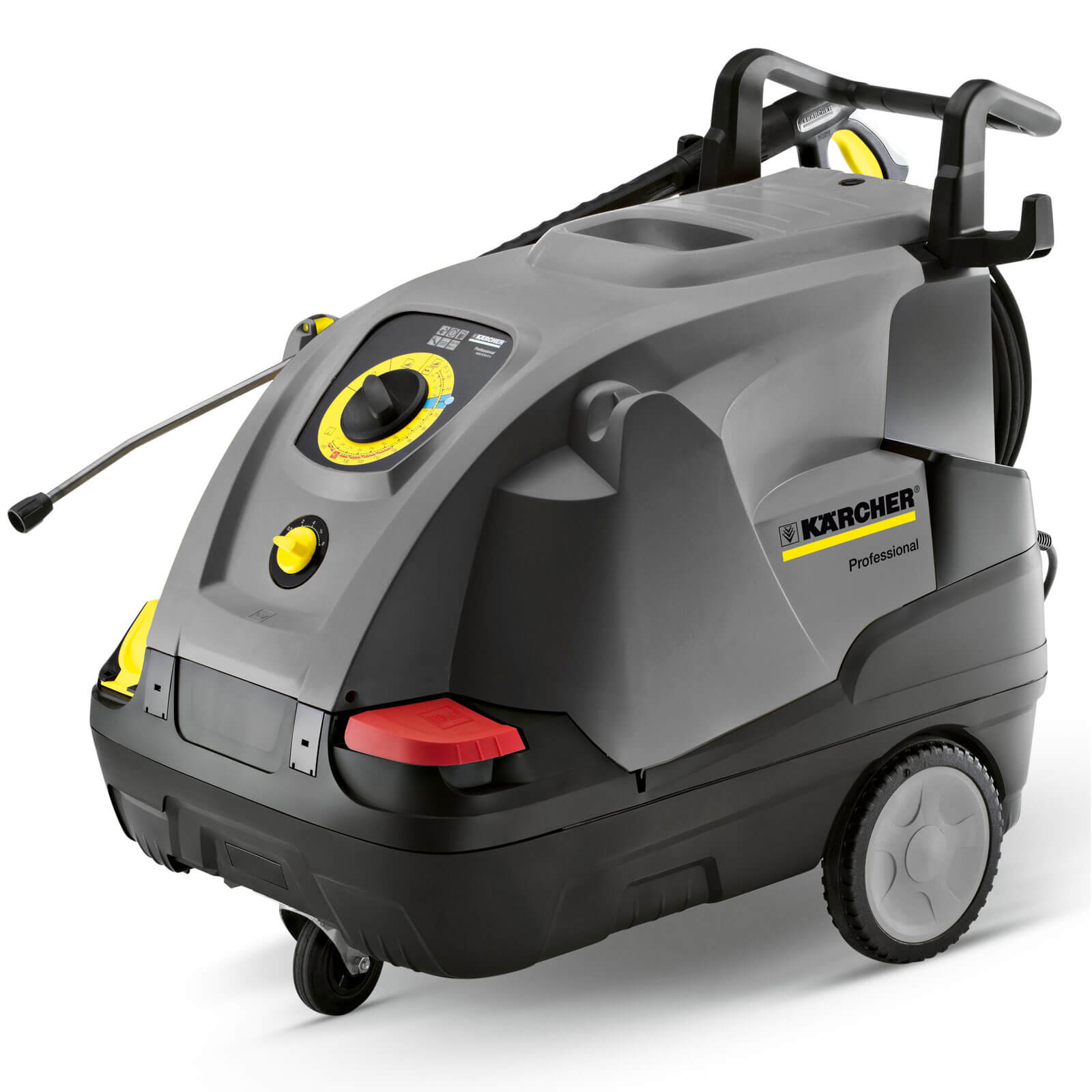 Karcher HDS 6/12 C Commercial Compact Hot Water & Steam Pressure Washer 30 - 120 Bar 3000w 240v Plus Hose Reel Worth £223