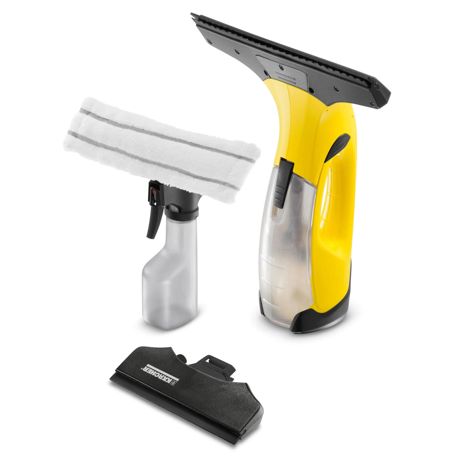 Karcher WV 2 PREMIUM Rechargeable Window Vac with Spray Bottle, Pad & Small Nozzle