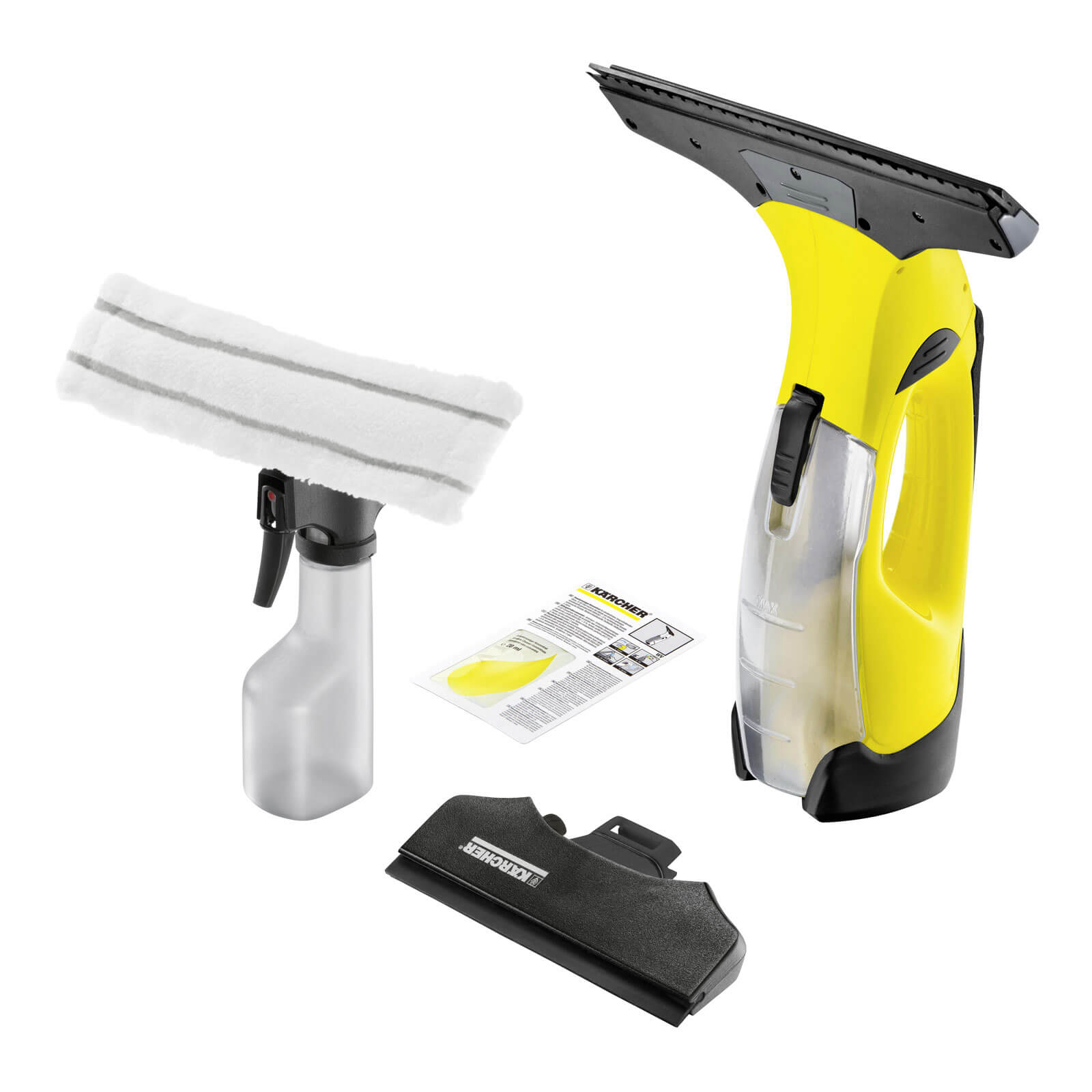 Karcher WV 5 Rechargeable Window Vac with 1 Li-ion Battery, Spray Bottle, Pad & Small Nozzle