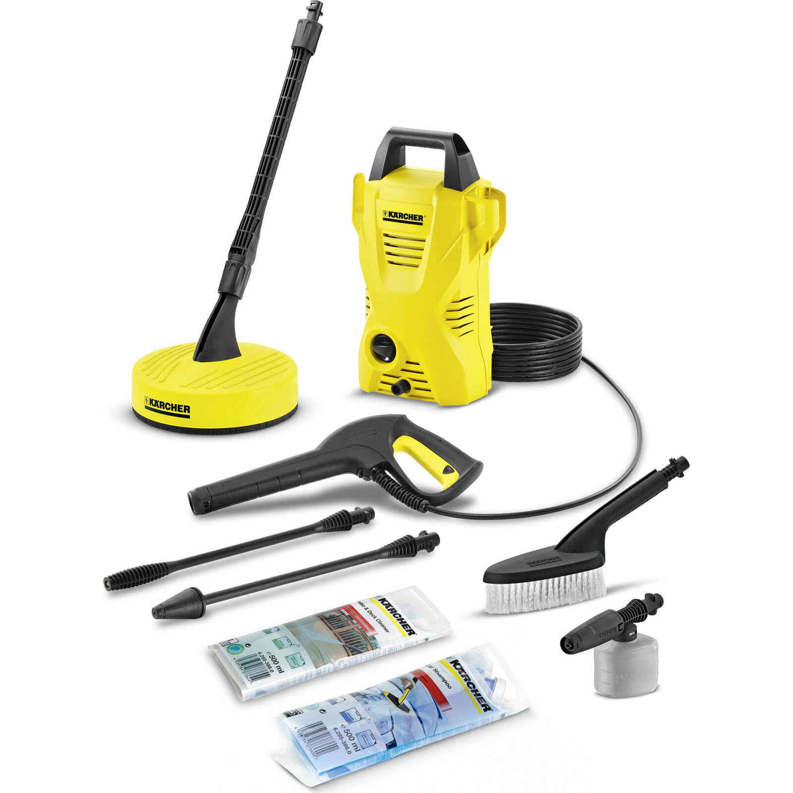 Power Tools Karcher K2 Compact Car & Home Pressure Washer with Patio Cleaner 110 Bar 1400w 240v