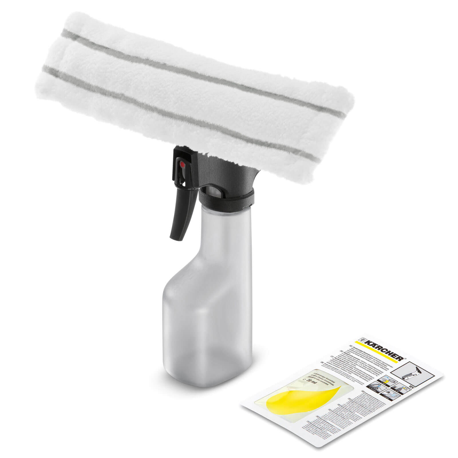 Karcher Spray Bottle & Microfibre Pad Kit for Karcher Window Vacs