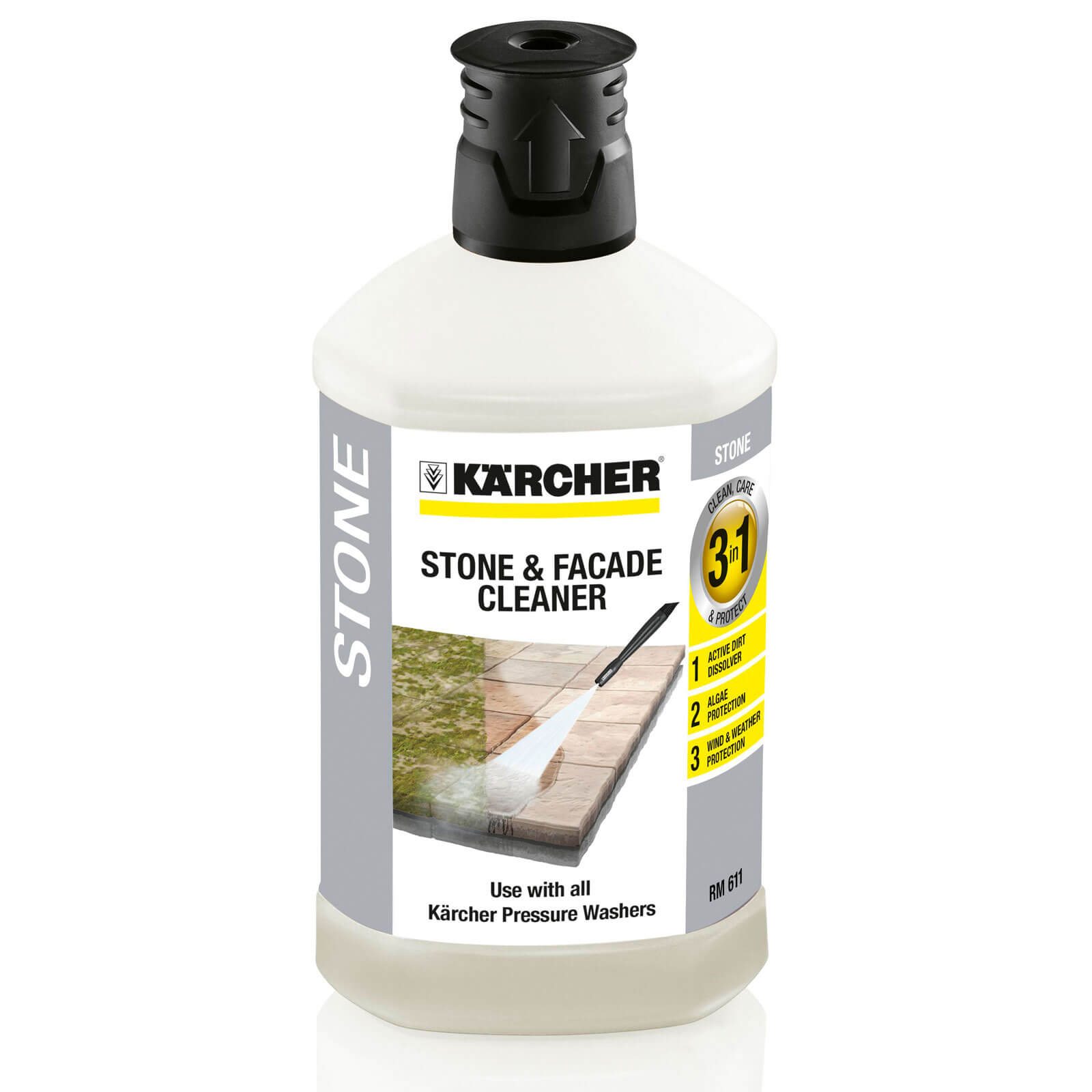 Karcher Multi Purpose Stone & Facade Plug n Clean Detergent 1 Litre for Pressure Washers
