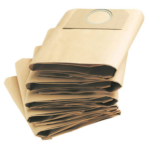 Karcher Pack of 5 Paper Filter Dust Bags for A2231PT, 2204, 2254, 2534PT, 2554, 2206X, MV 3 P, WD3.200, WD3.500 & 5.200 Vacuum Cleaners