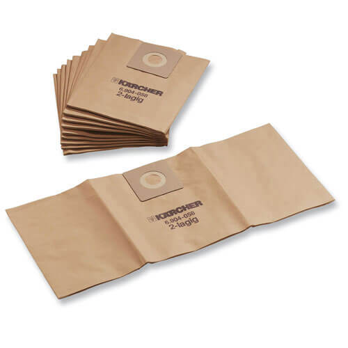 Karcher Pack of 10 Paper Class M Dust Bags for NT 27/1 Vacuum Cleaners