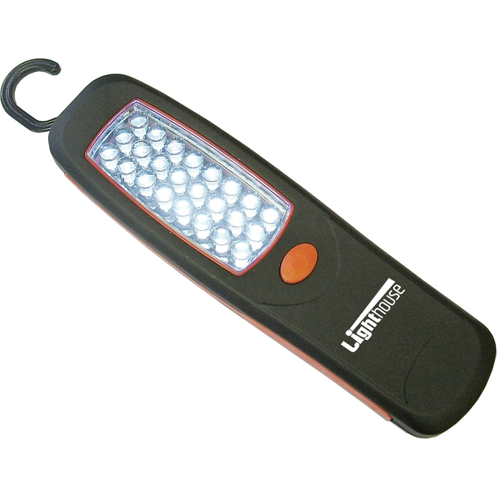 Image of Lighthouse 24 LED Magnetic Hand Lamp & Hook 120 Lumens Size 3 x AA Batteries