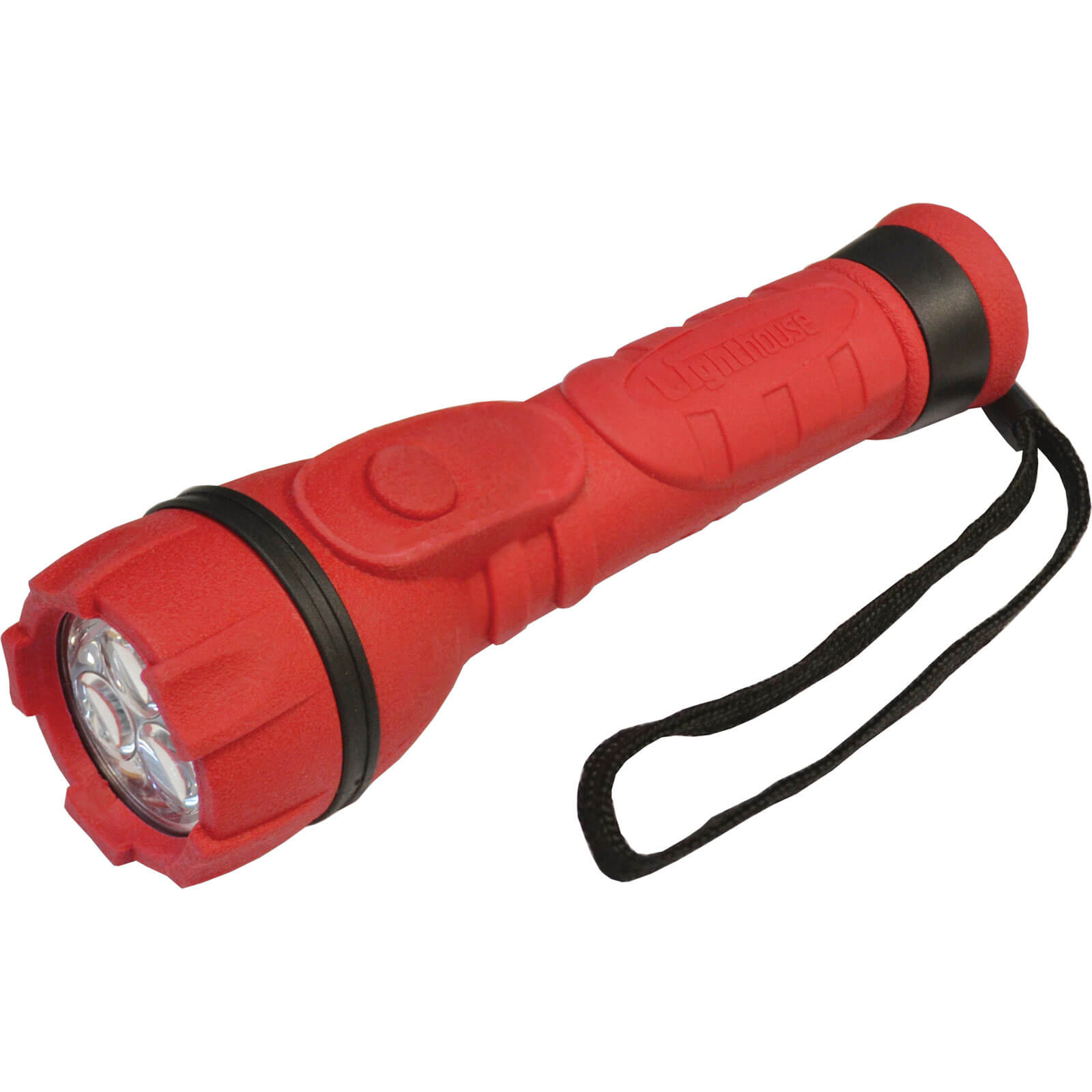 Image of Lighthouse 3 LED Rubber Torch Red