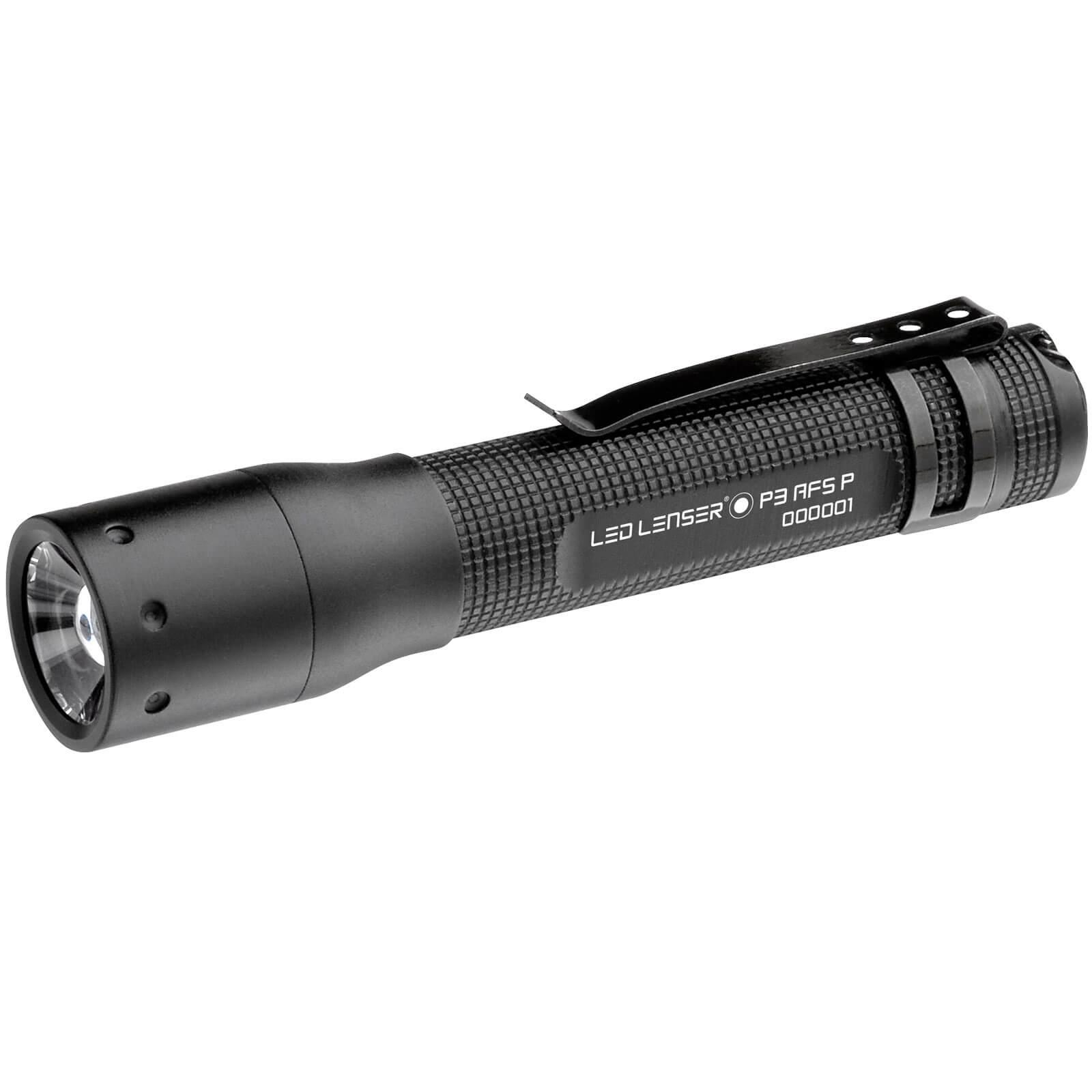 LED Lenser P3 Advanced Focus System Torch Black in Gift Box 25 Lumens