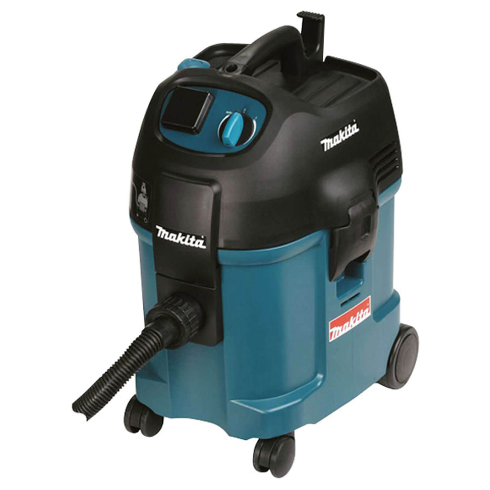 Image of Makita 446L Wet & Dry Dust Extractor with Power Tool Socket 1750w 27L 110v