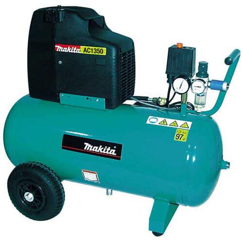Makita Electric Air Compressor with 50 Litre Tank & Wheels 2hp 110v