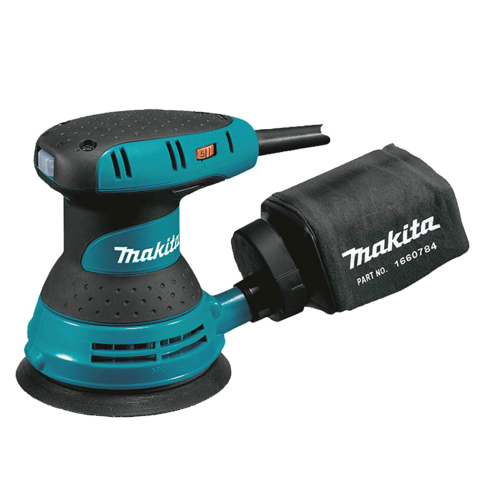 Makita BO5031 Random Orbital Sander with Speed Control 125mm Disc 300w 240v