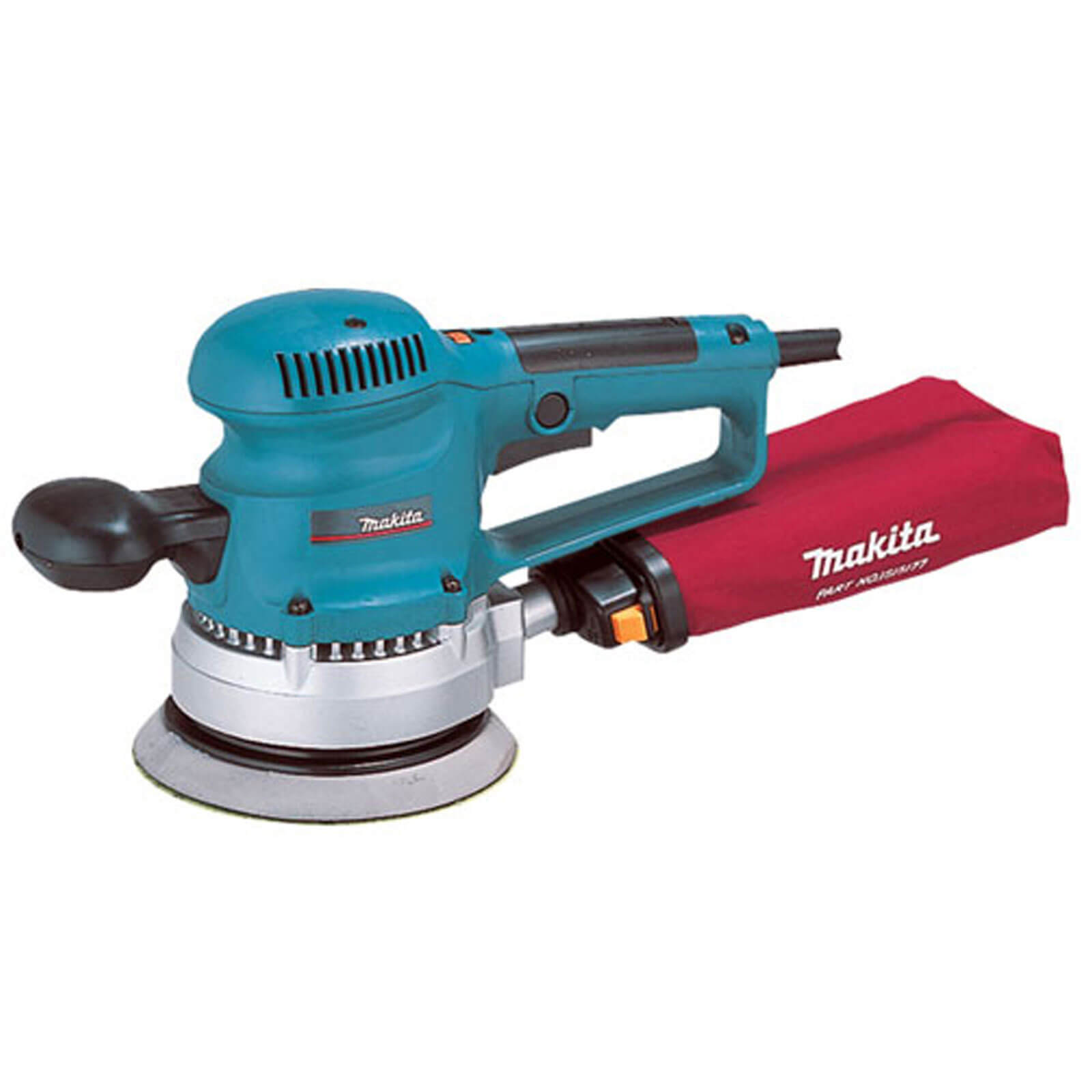 Image of Makita BO6030 Random Orbit Sander with Variable Speed 150mm Disc 110v