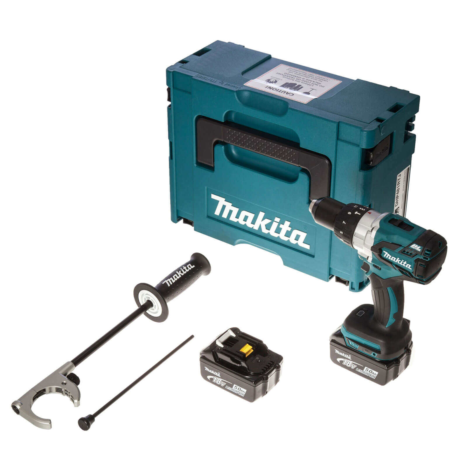 Image of Makita DHP481RTJ 18v Cordless XPT Brushless Combi Drill with 2 Lithium Ion Batteries 5ah