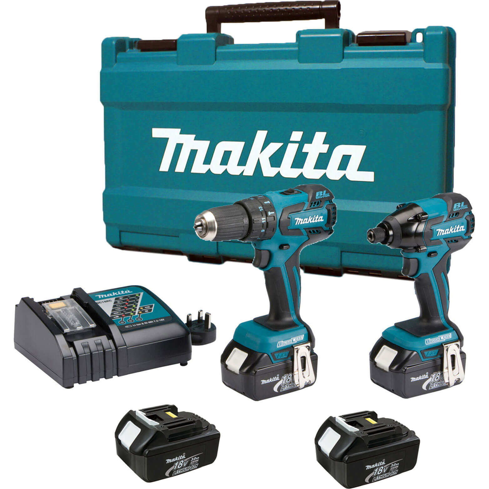 makita dk18005 18v cordless brushless combi drill impact. Black Bedroom Furniture Sets. Home Design Ideas