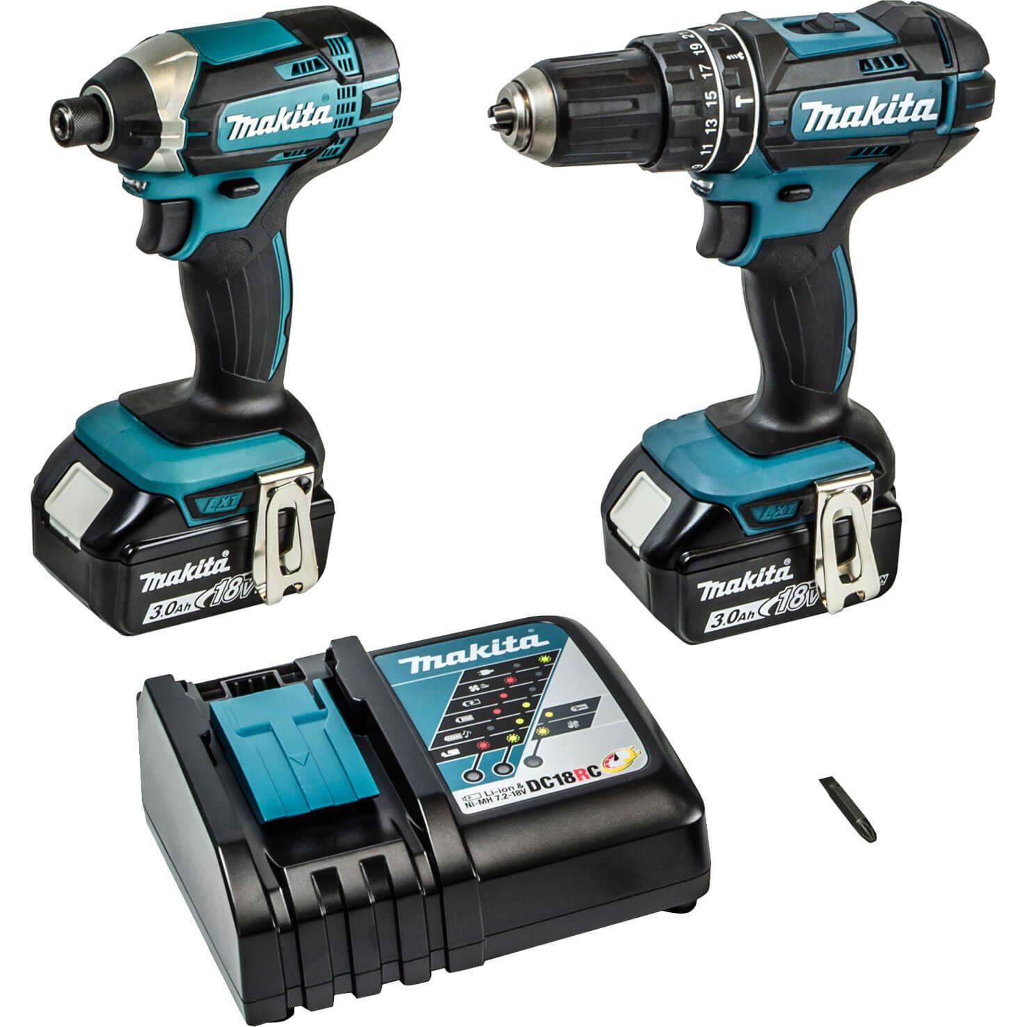 Makita DLX2131 18v Cordless LXT Combi Drill & Impact Driver with 2 Liion Batteries 3ah