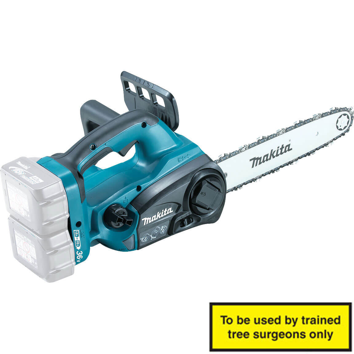 Makita DUC302Z Twin 18v Cordless LXT Chainsaw 300mm Blade without Battery or Charger