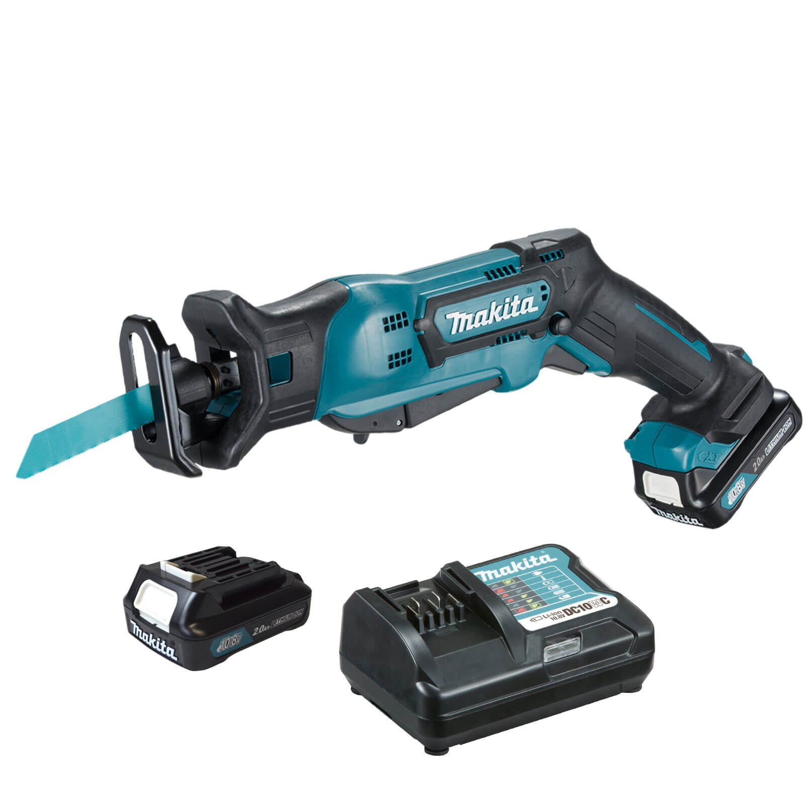Image of Makita JR103DZ 10.8v Cordless CXT Reciprocating Saw with 2 Lithium Ion Batteries 2ah