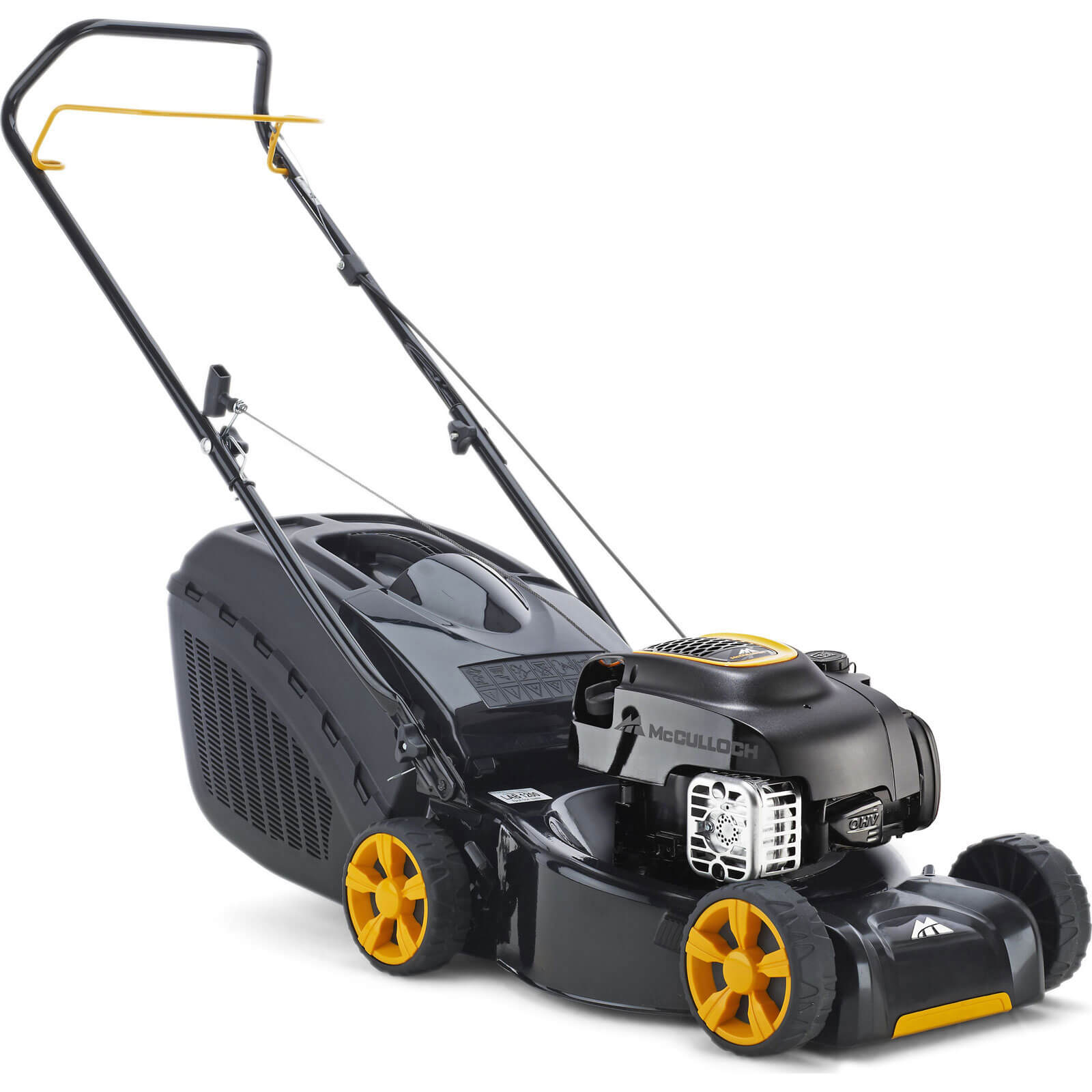 McCulloch M40-125 Push Petrol Rotary Lawn Mower 400mm Cut Width with Steel Deck & Briggs & Stratton 450E 125cc Engine