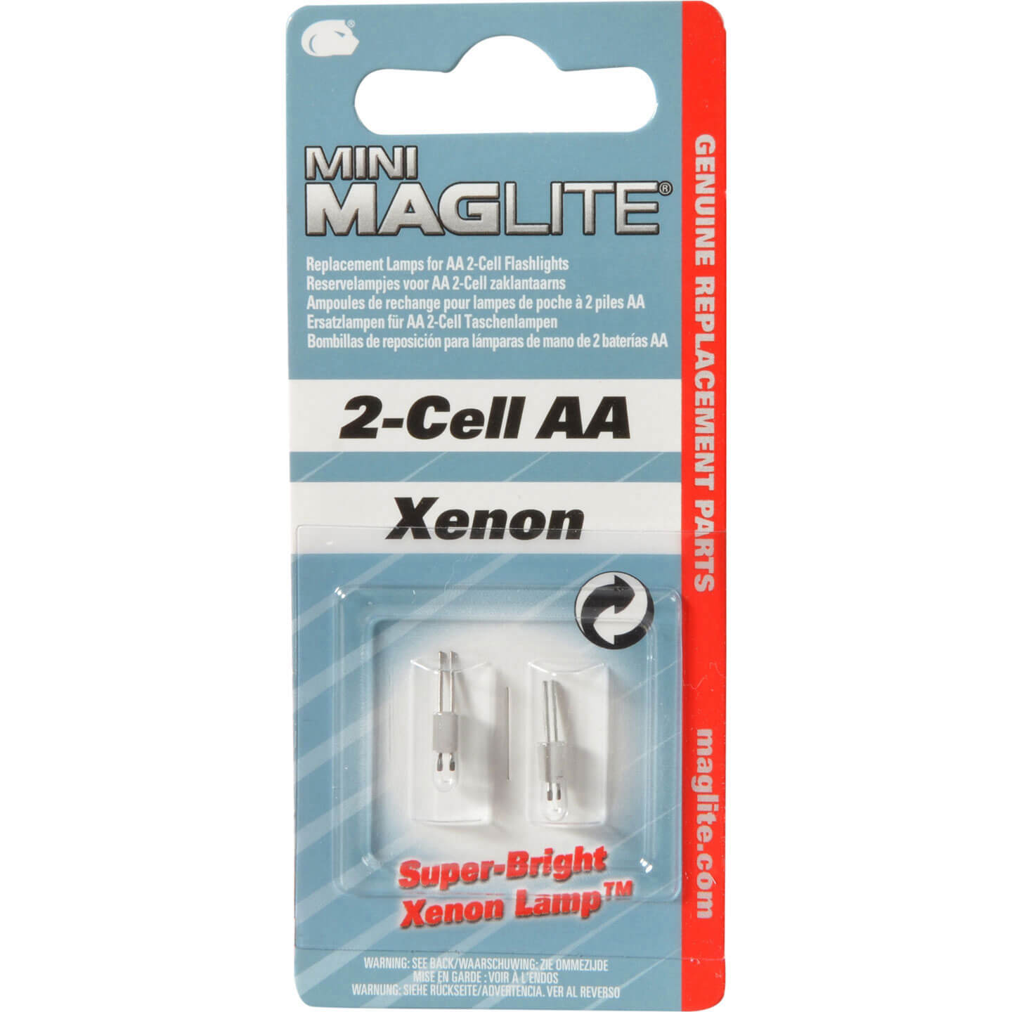 Image of Maglite Bulbs for All Mini Mag Torches Pack of 2