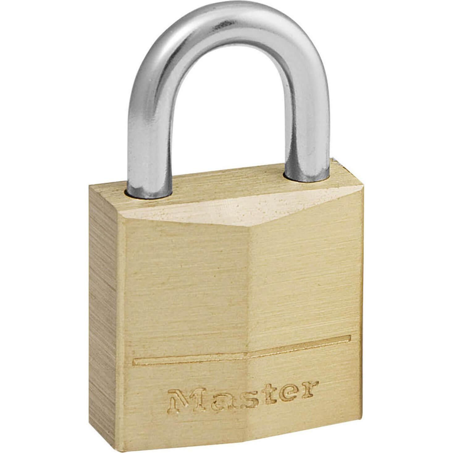 Tooled Up/Ironmongery & Security/Security/Masterlock 20mm Solid Brass Padlock