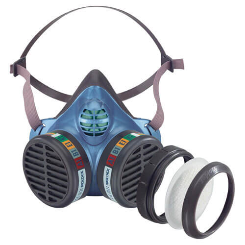 Moldex Series 5000 Half Mask with P3 Disposable Gas & Vapour Cartridges & Filters