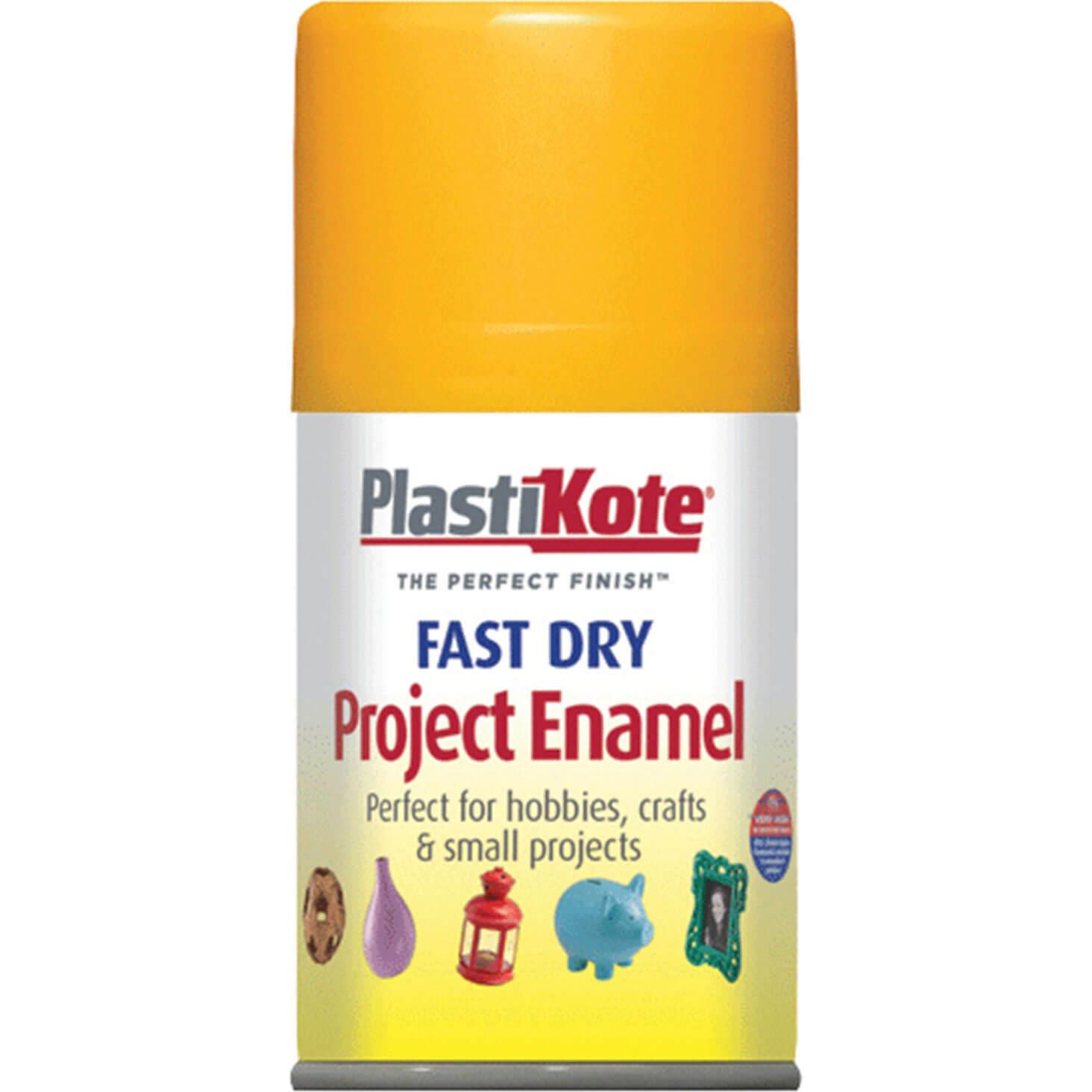 Plastikote 107S Dry Enamel Paint Sunshine Yellow Aerosol 100ml