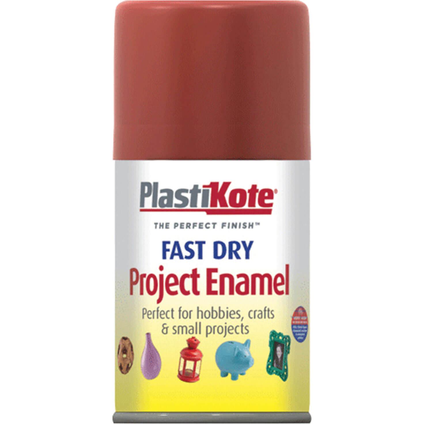 Plastikote 112S Dry Enamel Paint Nut Brown Aerosol 100ml