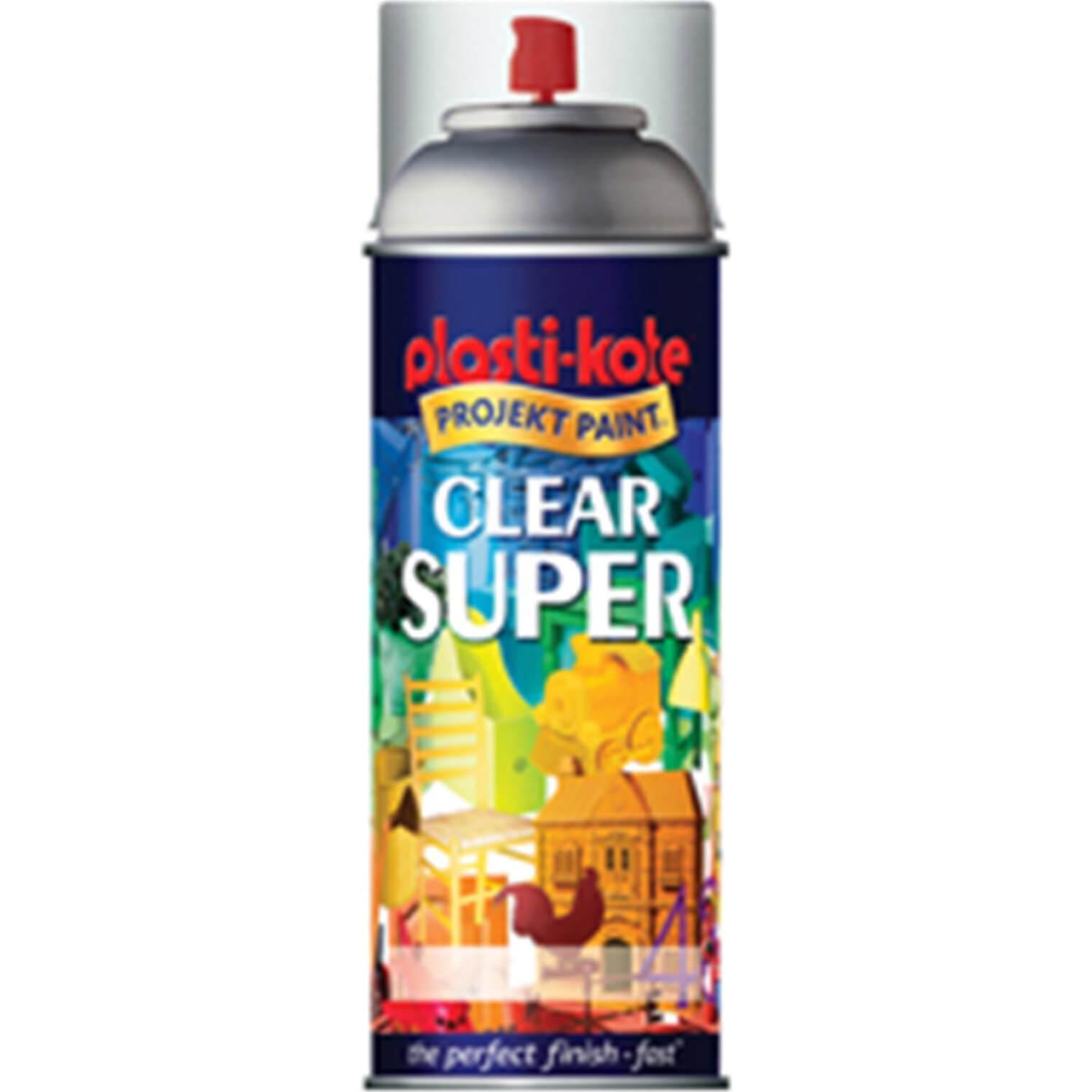 Plastikote 1138 Super Enamel Paint Clear Aerosol 400ml