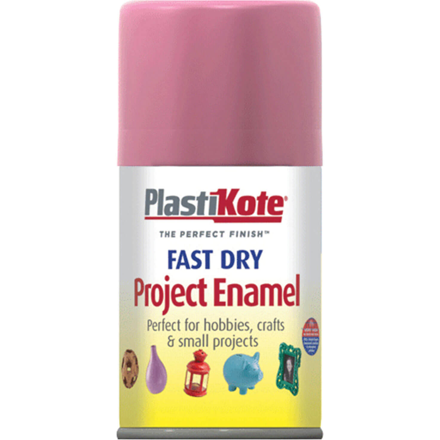Plastikote 115S Dry Enamel Paint Hot Pink Aerosol 100ml