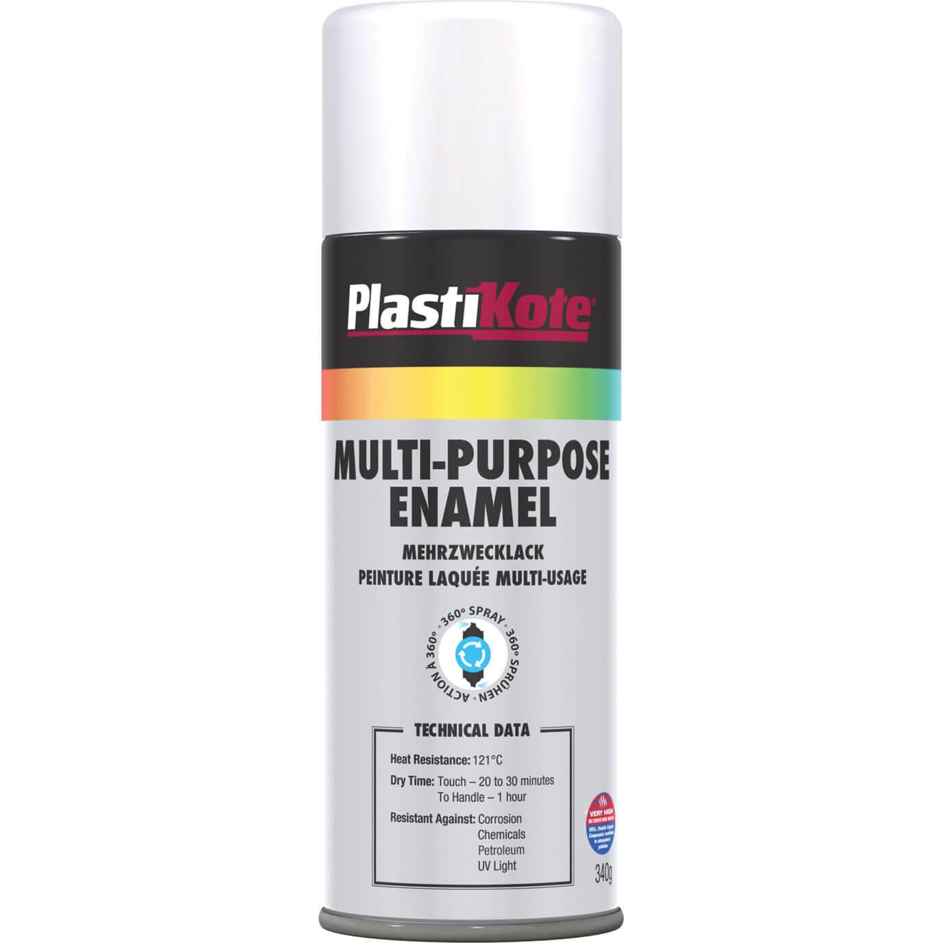 Aerosol Spray Paints Plastikote Multi Purpose Aerosol Enamel Spray Paint Gloss White 400ml