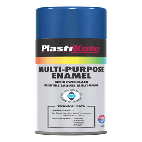 Plastikote Multi Purpose Aerosol Enamel Spray Paint Gloss Blue 400ml