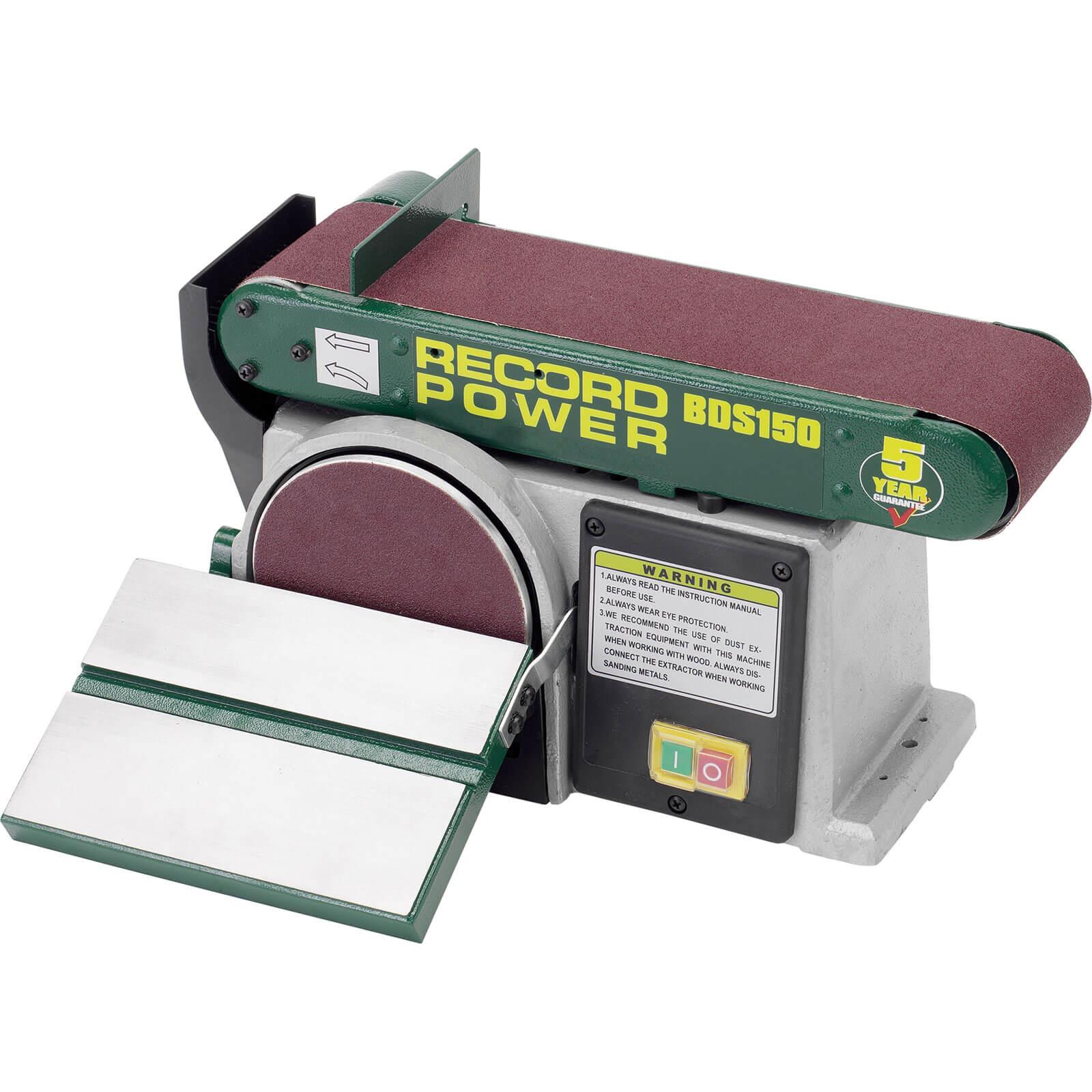 Record Power BDS150 Bench Belt & Wheel Sander 150mm Disc 240v