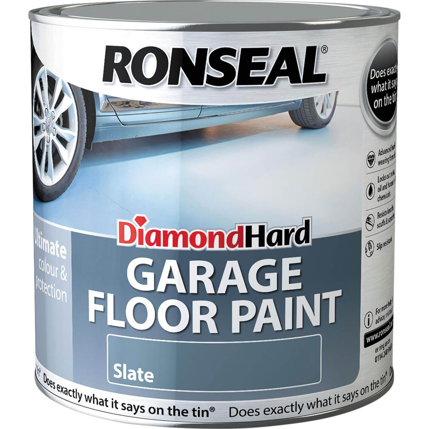 Ronseal Diamond Hard Perfect Finish Floor Paint White 2.5 Litre
