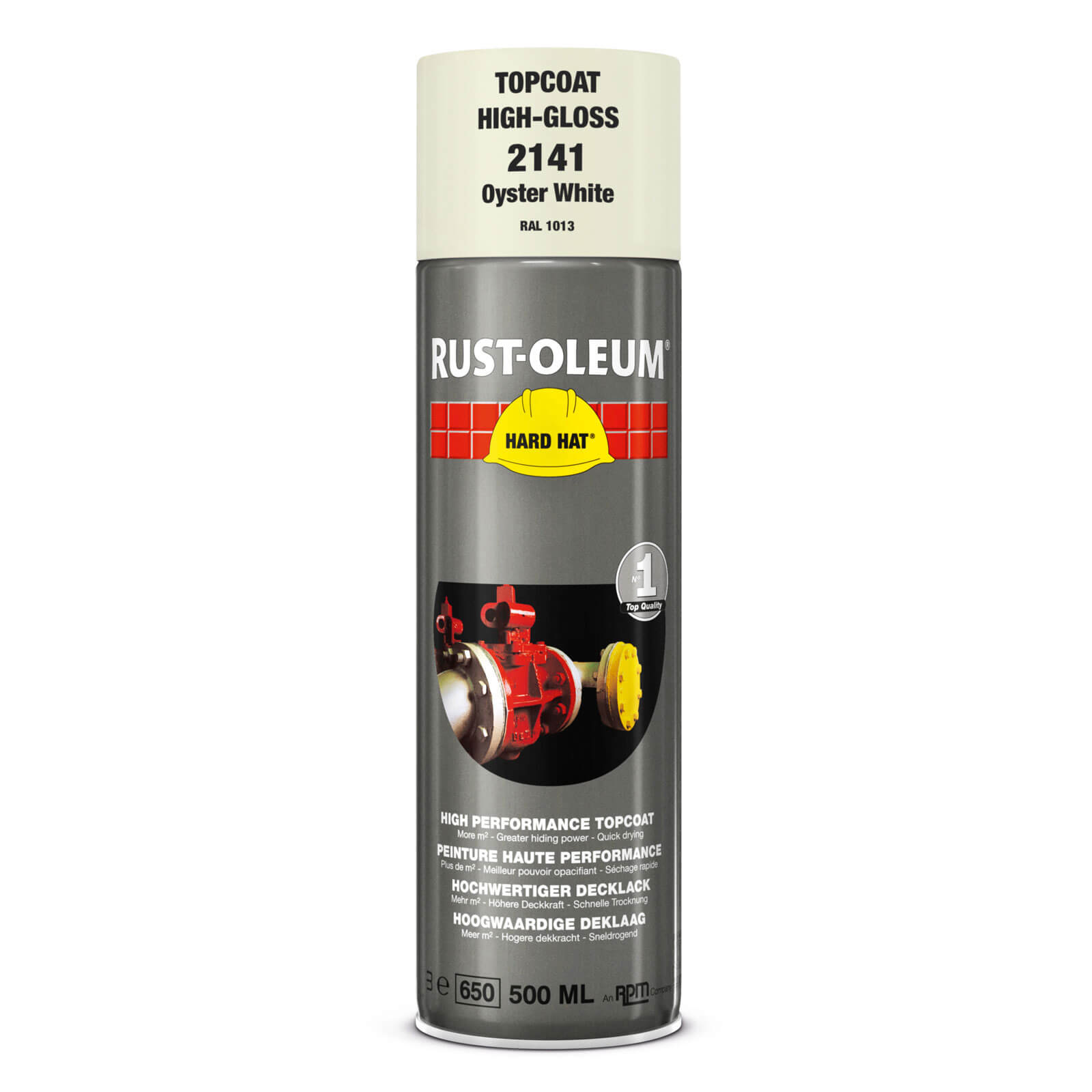 Rust oleum 2192 hard hat white aerosol metal spray paint 500ml Spray paint for metal
