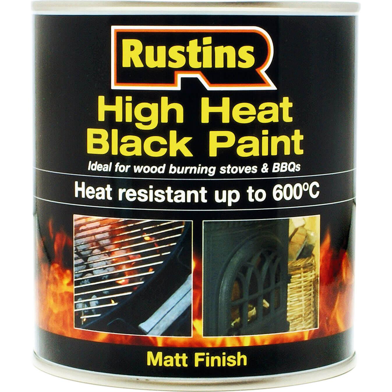 Rustins High Heat 600?C Black Paint 250ml