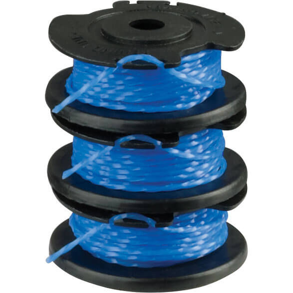 Ryobi RAC125 Pack of 3 Spool & 1.6mm Line for RLT1830H13 & RLT1825Li Grass Trimmers