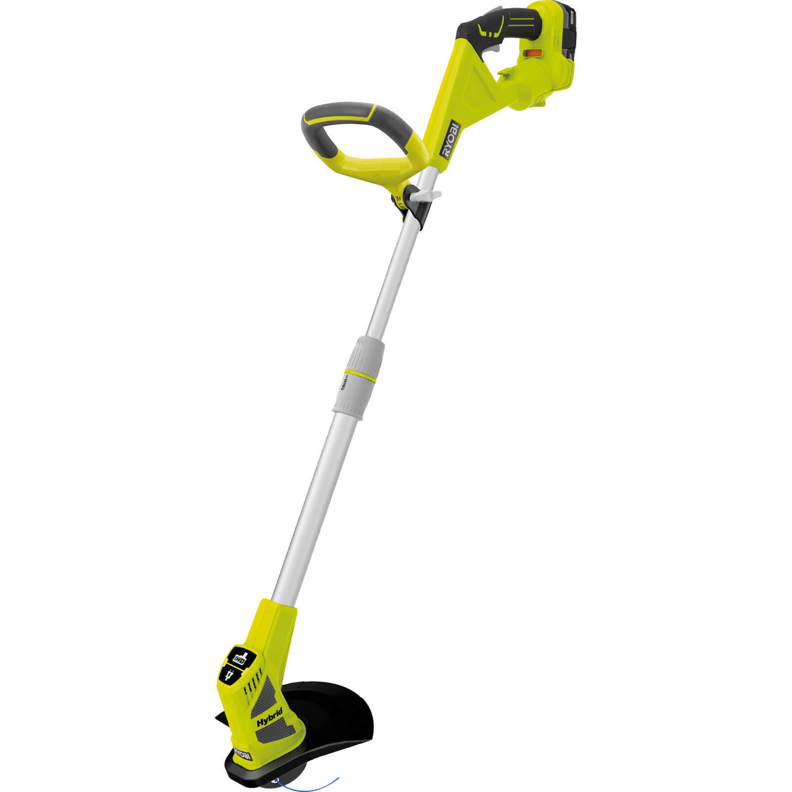 Ryobi RLT1830H13 ONE+ 18v & 240v Hybrid Grass Trimmer 250 - 300mm Cut Width with 1 Lithium Ion Battery 1.3ah